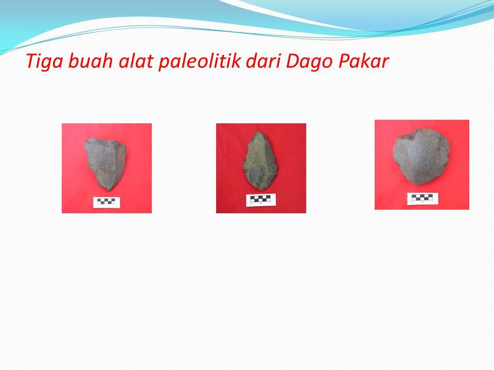 Tiga buah alat paleolitik dari Dago Pakar