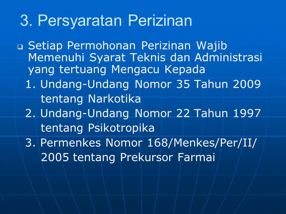 3. Persyaratan Perizinan   Setiap Permohonan Perizinan Wajib Memenuhi Syarat Teknis dan Administrasi yang tertuang Mengacu Kepada 1. Undang-Undang N