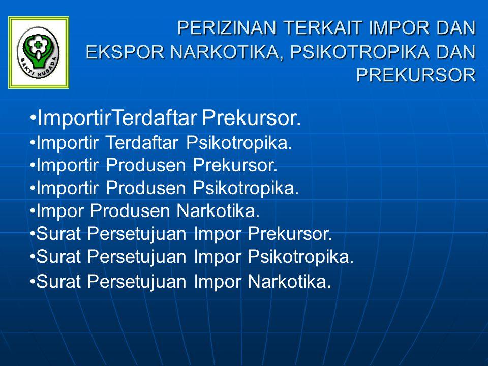 Lanjutan…..Ekspor Produsen Prekursor. Ekspor Produsen Prekursor.