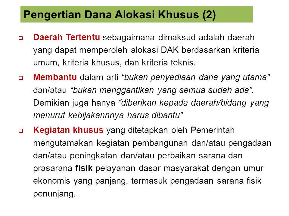 Daerah penerima DAK wajib mencantumkan alokasi dan penggunaan DAK di dalam APBD.