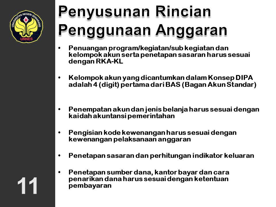 10 Dibagikan Gubernur Ditelaah Kanwil Provinsi Ditanda tangani Rektor/KPA POK DIPA DJA DJPN SRAA Keterangan : DJA= Direktorat Jenderal Anggaran DJPN=
