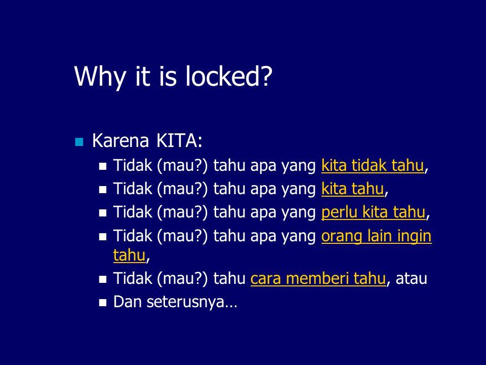 How to Unlock.Inilah tugas KITA di IndonesiaDLN.