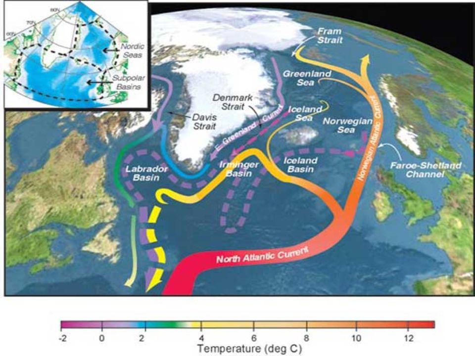 Penyebaran Suhu Global ► Secara horisontal Suhu permukaan bumi makin rendah dengan bertambahnya lintang.