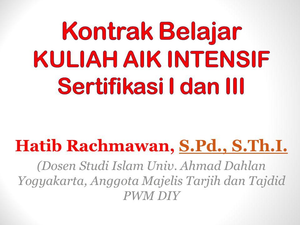 Hatib Rachmawan, S.Pd., S.Th.I.S.Pd., S.Th.I.(Dosen Studi Islam Univ.