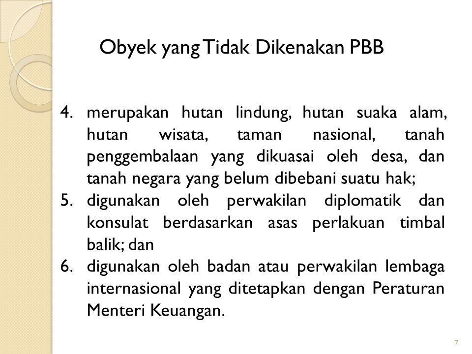 18 NJOPTKP NJOPTKP adalah batas NJOP yang tidak kena pajak atas Sektor Perkebunan, Perhutanan dan Pertambangan sesuai PMK 67/PMK.03/2011 menetapkan maksimum Rp24.000.000,00 per WP dan ditetapkan secara Regional berlaku 1 Januari 2012.