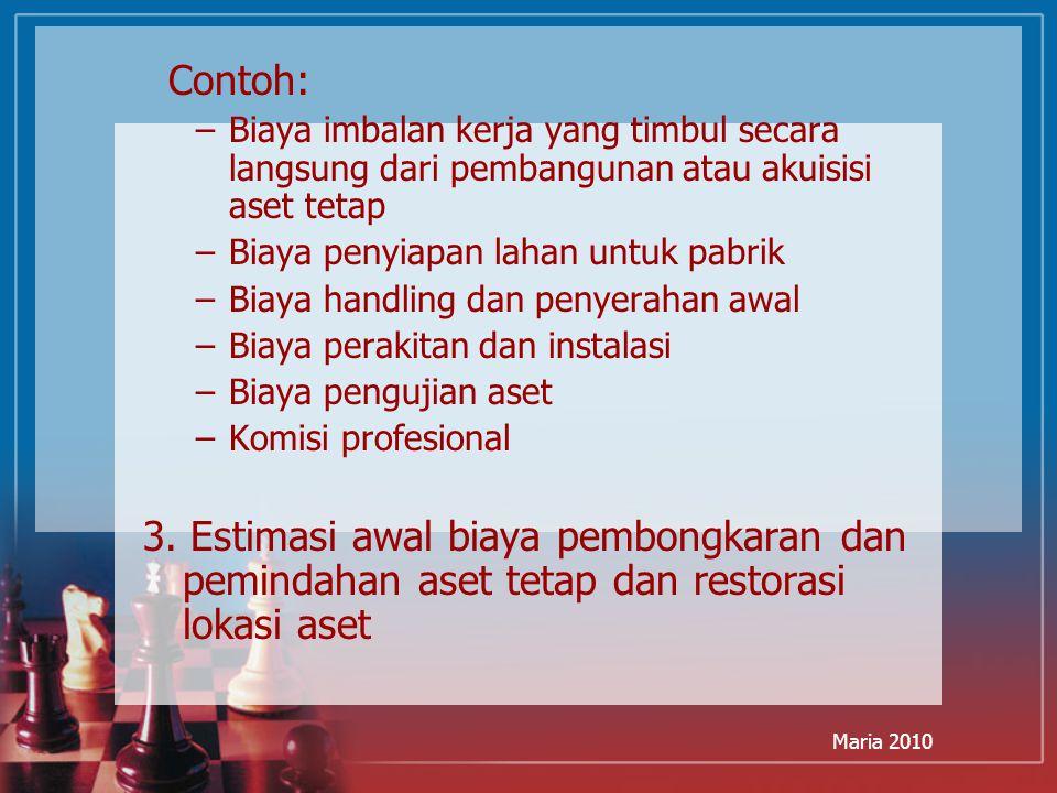 Maria 2010 Pertukaran: Situasi Laba Tidak Memiliki Subtansi Komersial ITC menukarkan sejumlah truknya plus uang tunai untuk sebidang tanah kosong.