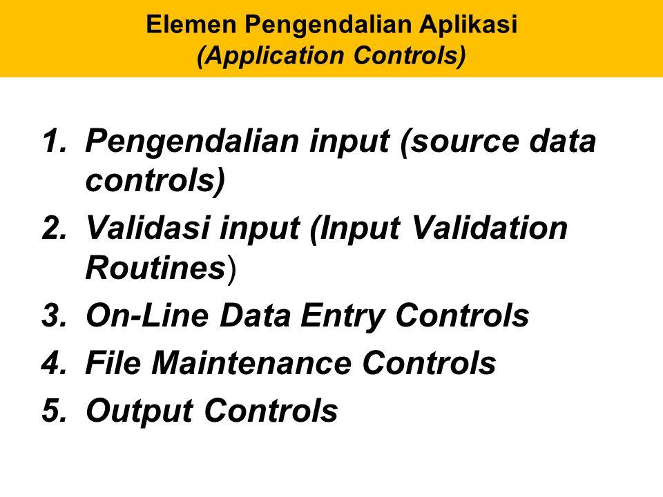 Perencanaan Pemulihan Sistem (Disaster Recovery Planning) Elemen perencanaan pemulihan sistem:  Prioritas proses pemulihan (priority for the recovery process)  Backup data dan file program.