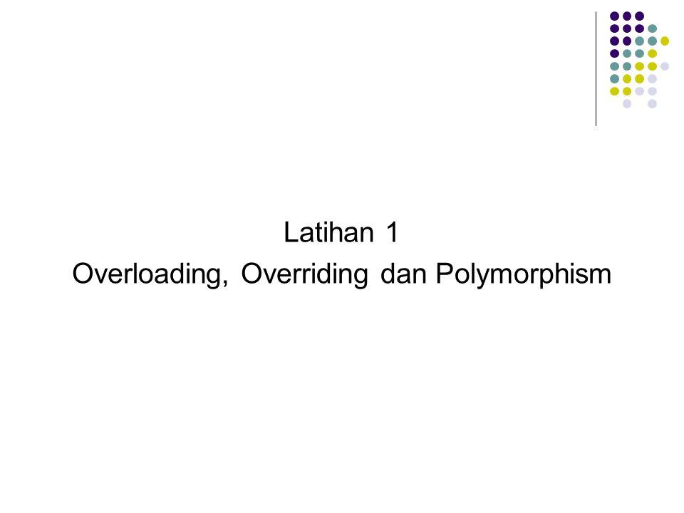 Latihan 1 Overloading, Overriding dan Polymorphism