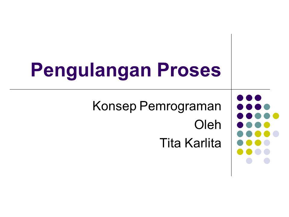 Pengulangan Proses Konsep Pemrograman Oleh Tita Karlita