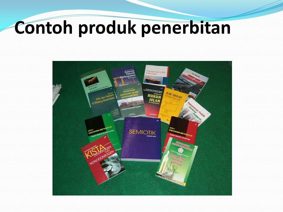 Contoh produk penerbitan