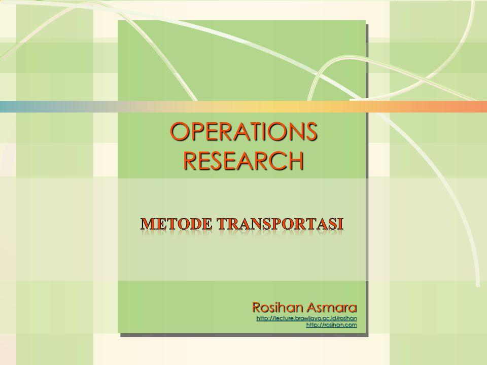 6s-2Linear Programming METODE TRANSPORTASI suatu metode yang digunakan untuk mengatur distribusi dari sumber-sumber yang menyediakan produk yang sama, ke tempat-tempat yang membutuhkan secara optimal