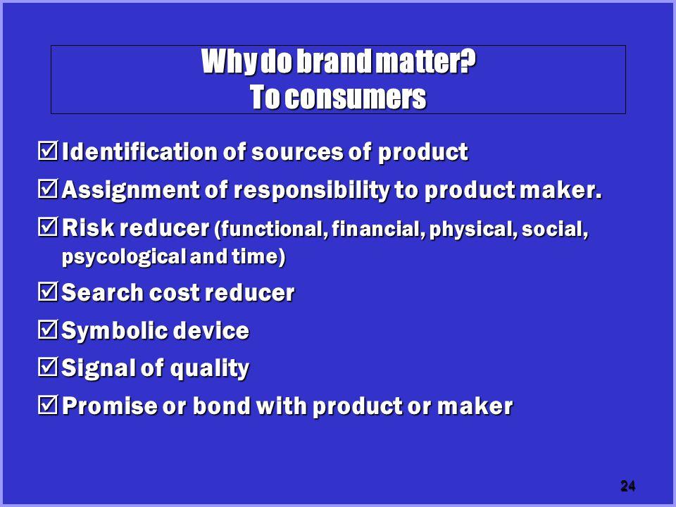 24 Why do brand matter.