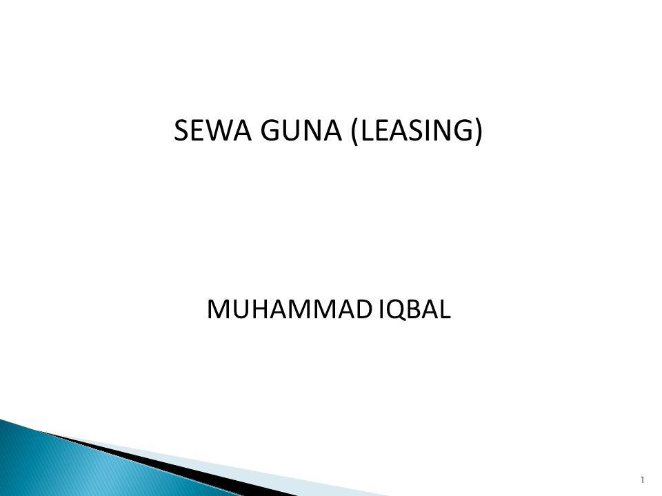 1 SEWA GUNA (LEASING) MUHAMMAD IQBAL