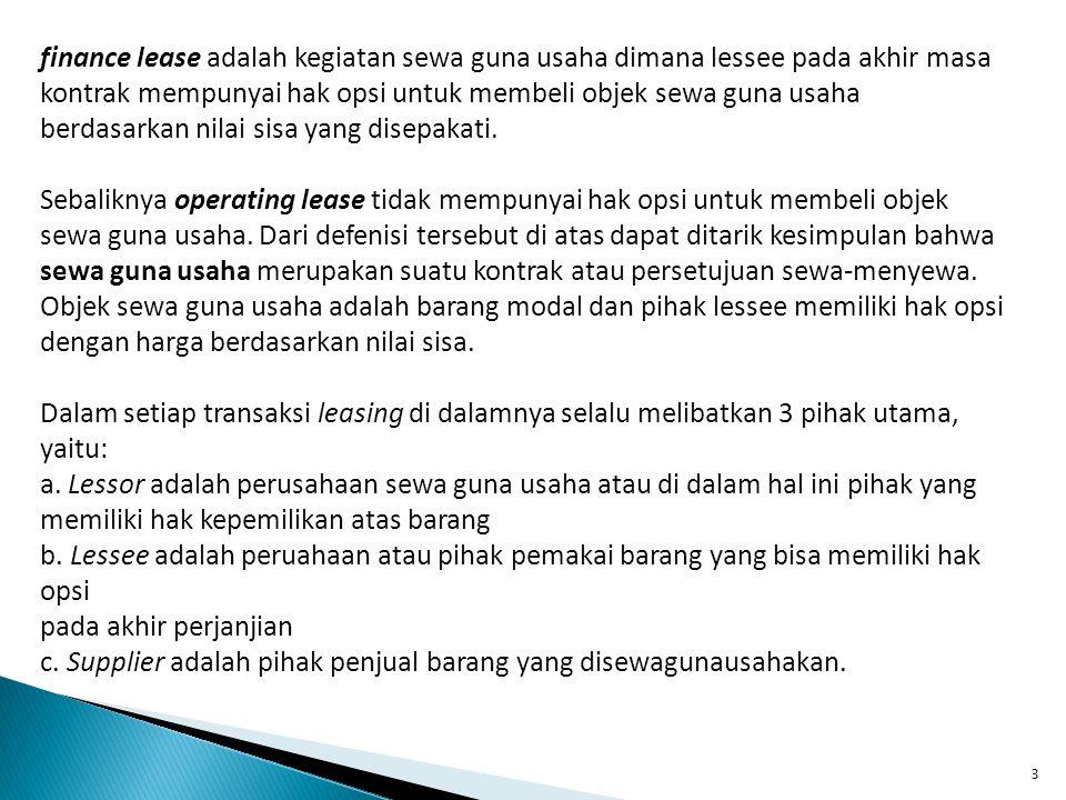 4 B.MEKANISME DALAM LEASING 1.