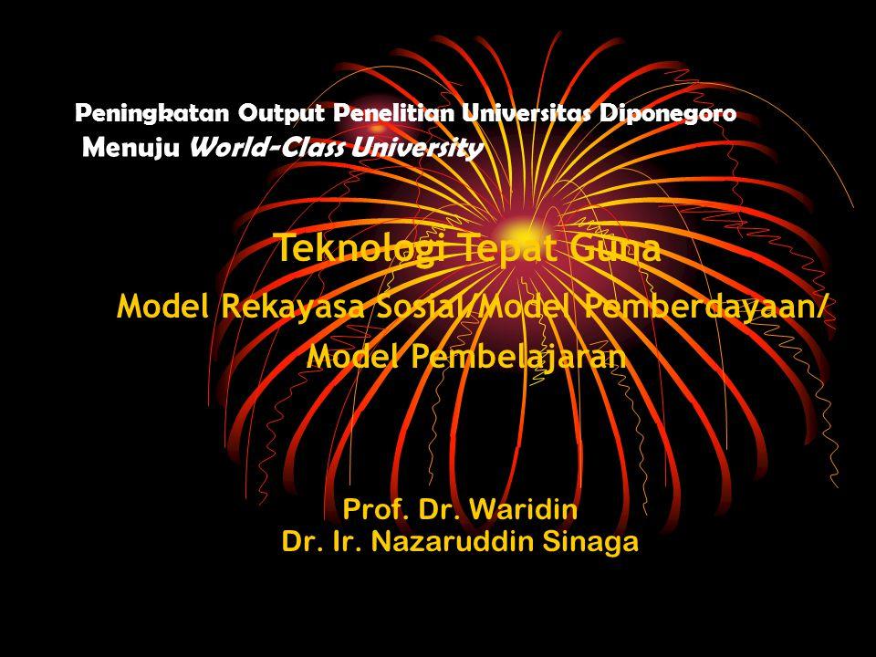 Peningkatan Output Penelitian Universitas Diponegoro Menuju World-Class University Prof.