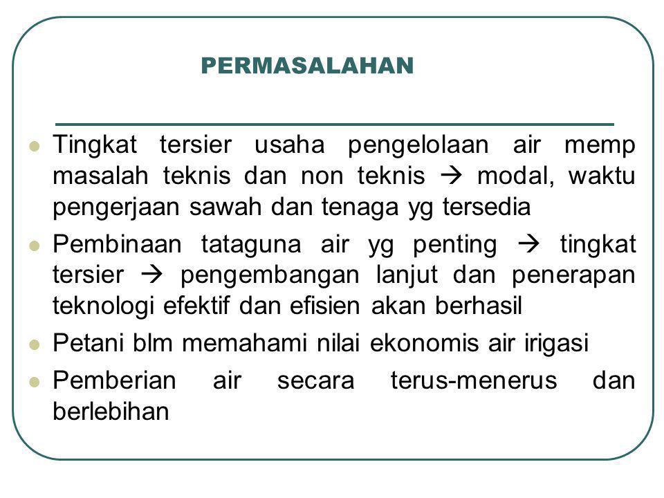 Anggota P3A Anggota tetap  para pemilik penggarap sawah Anggota tidak tetap/anggota musiman  para penyewa sawah