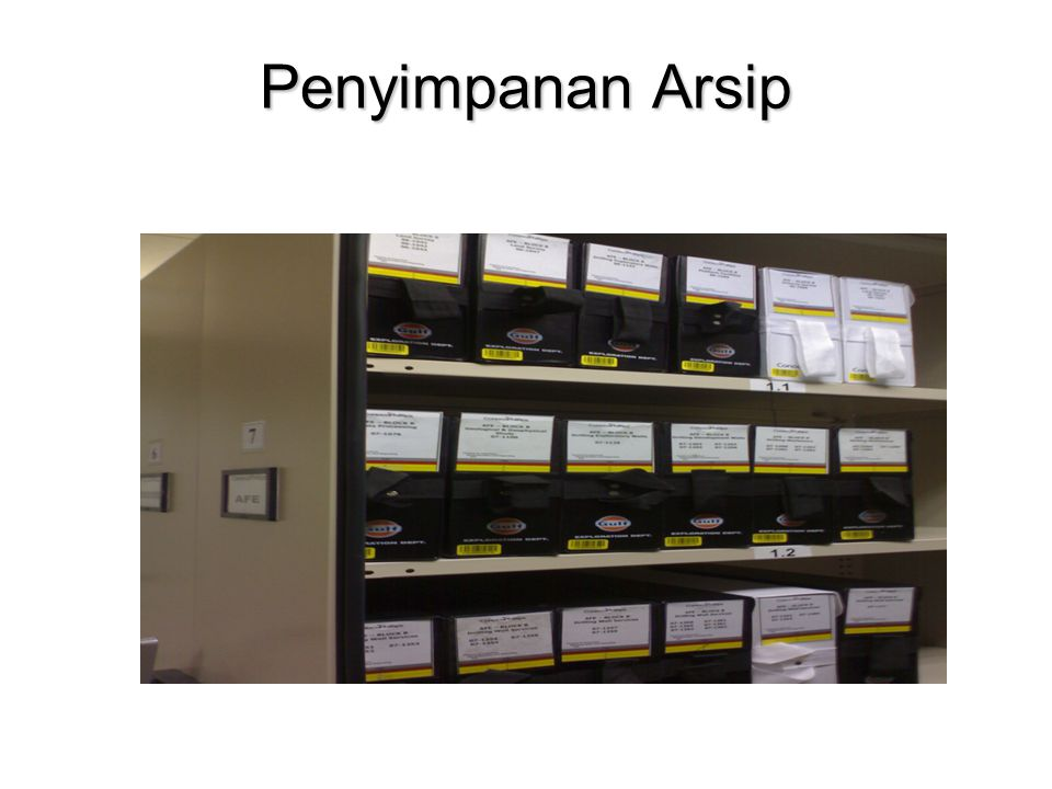 Penyimpanan Arsip