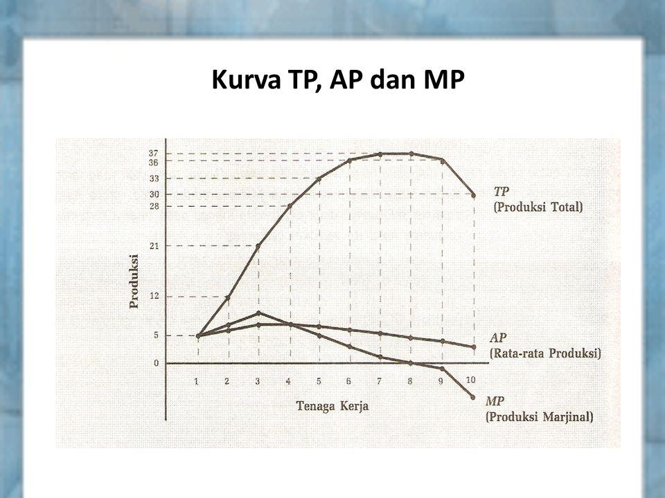 Kurva TP, AP dan MP