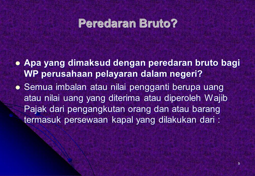 Peredaran Bruto.