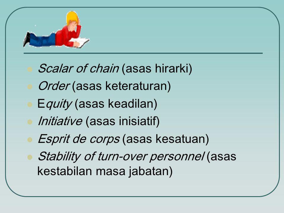 Lanjutan…  Unity of direction (asas kesatuan arah)  Subordination of individual interest into general interest (asas kepentingan umum diatas kepenti