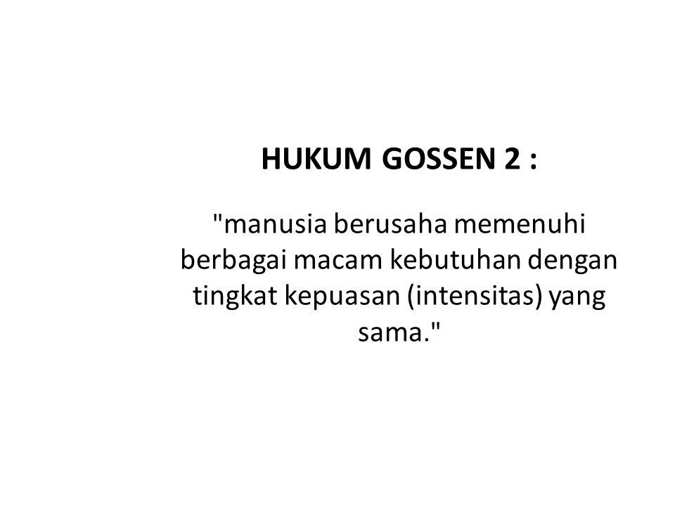 HUKUM GOSSEN 2 :