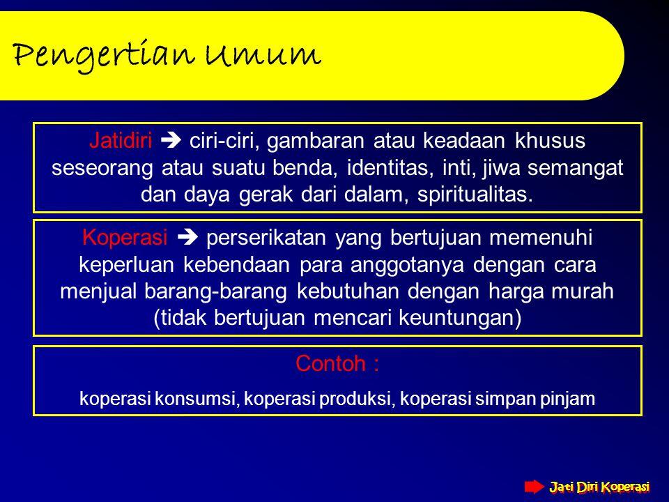 Created by : Bagian Diklat Puskopdit Bali Artha Guna JATI DIRI KOPERASI JATI DIRI KOPERASI