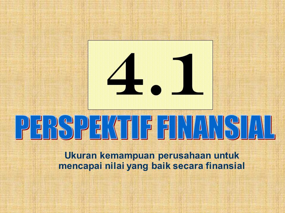 4.1 Ukuran kemampuan perusahaan untuk mencapai nilai yang baik secara finansial