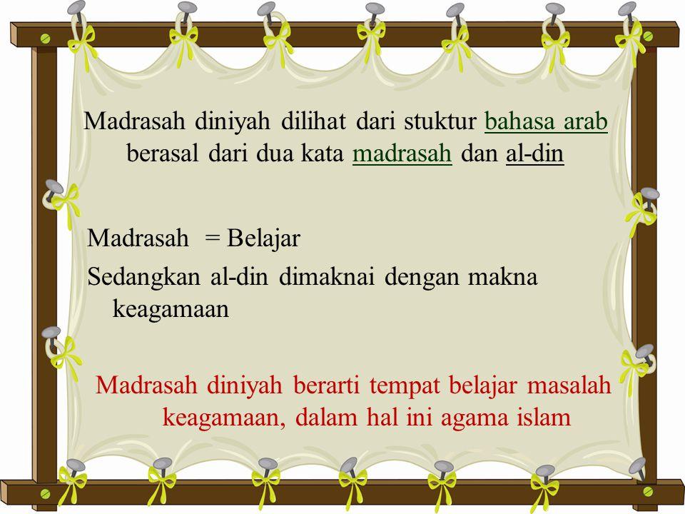 Waktu/Jam Pelajaran  Kurangnya waktu menjadi kendala dalam pelaksanaan pembelajaran di Madrasah diniyah.