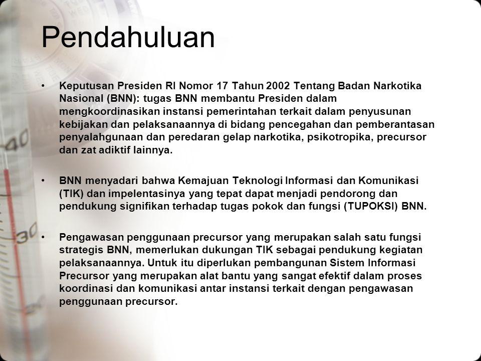 Pendahuluan Keputusan Presiden RI Nomor 17 Tahun 2002 Tentang Badan Narkotika Nasional (BNN): tugas BNN membantu Presiden dalam mengkoordinasikan inst
