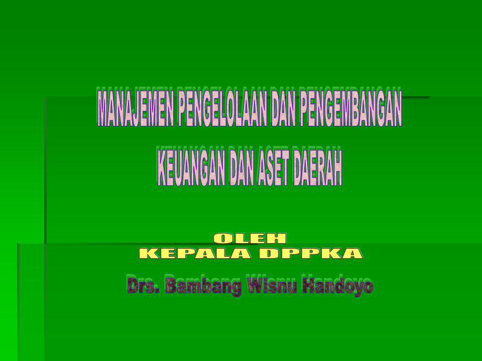 Optimalisasi (Pengembangan) Aset Daerah Permendagri 17/2007 tentang Pedoman Teknis Pengelolaan Barang Daerah