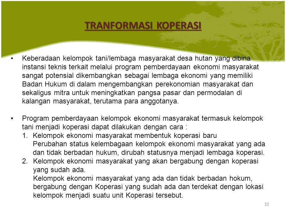 10 Keberadaan kelompok tani/lembaga masyarakat desa hutan yang dibina instansi teknis terkait melalui program pemberdayaan ekonomi masyarakat sangat p
