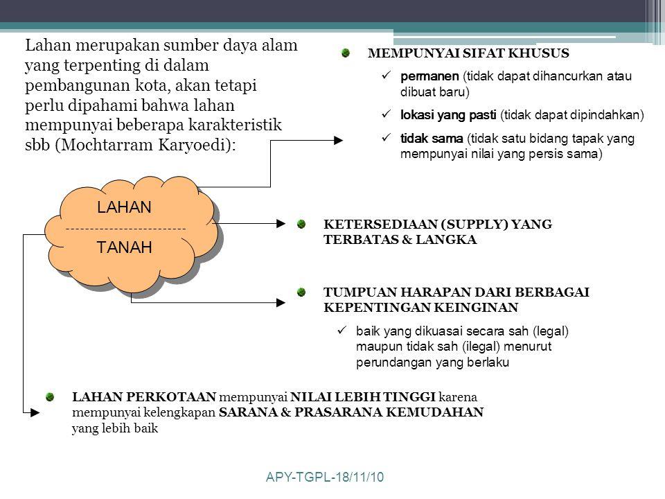1.Lestari, penggunaan tanah harus tetap menjaga kelestarian lingkungan 2.