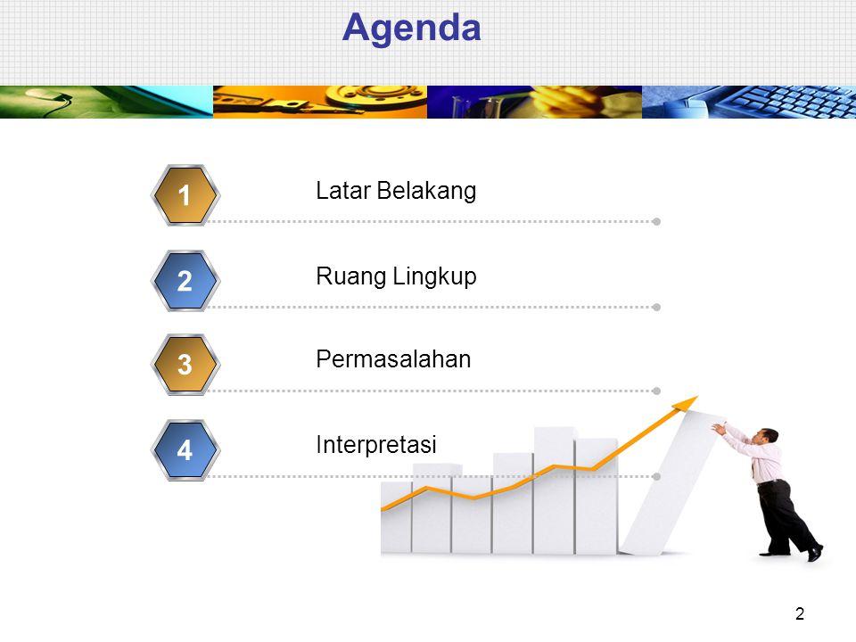 Agenda 2 Latar Belakang 1 Ruang Lingkup 2 Permasalahan 3 Interpretasi 4