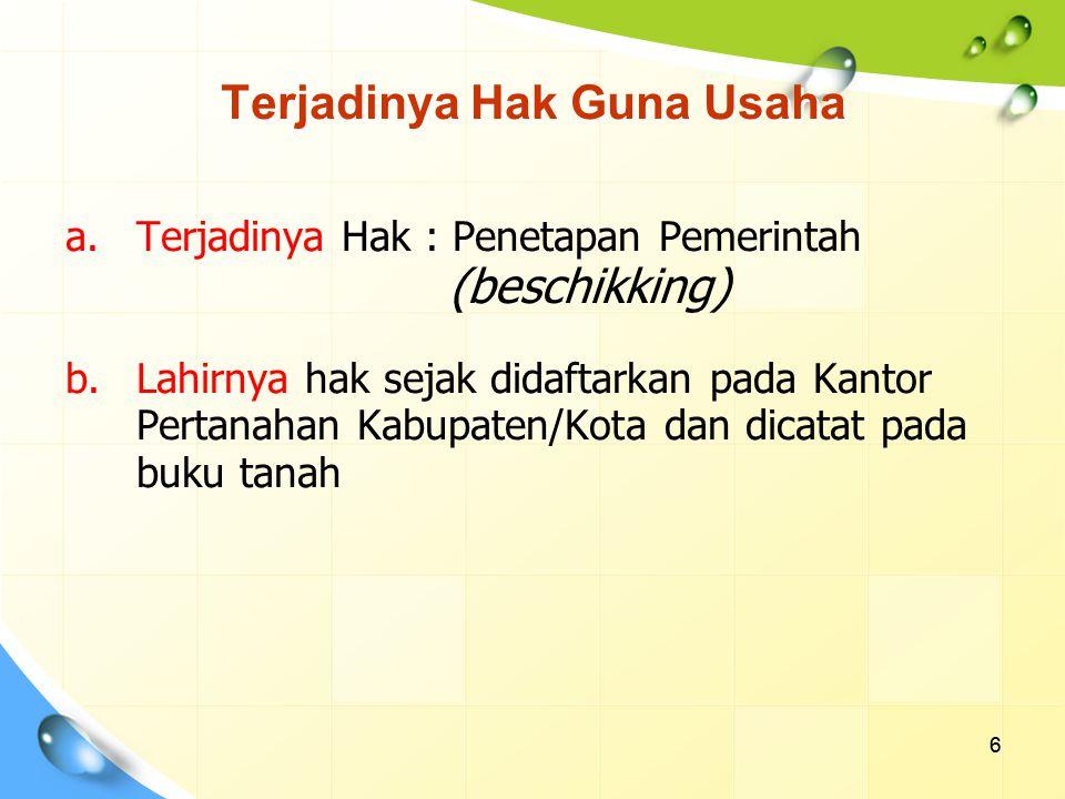 7 Subyek Hak Guna Usaha ( Pasal 30 ayat 1 UUPA jo.