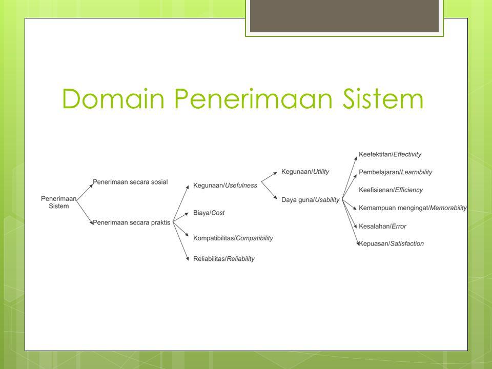 Domain Penerimaan Sistem