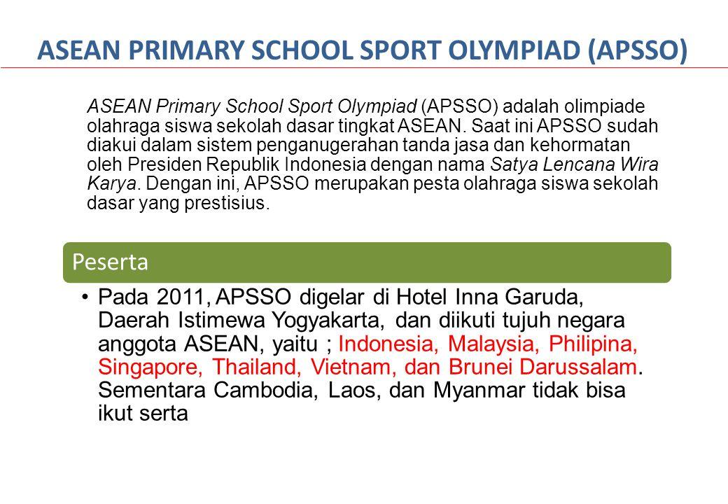 ASEAN Primary School Sport Olympiad (APSSO) adalah olimpiade olahraga siswa sekolah dasar tingkat ASEAN. Saat ini APSSO sudah diakui dalam sistem peng