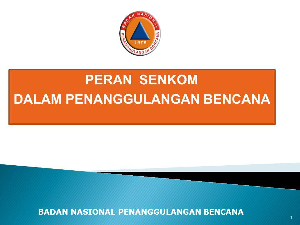 BADAN NASIONAL PENANGGULANGAN BENCANA Disampaikan Disampaikan oleh Mayjen TNI (Purn) DR.