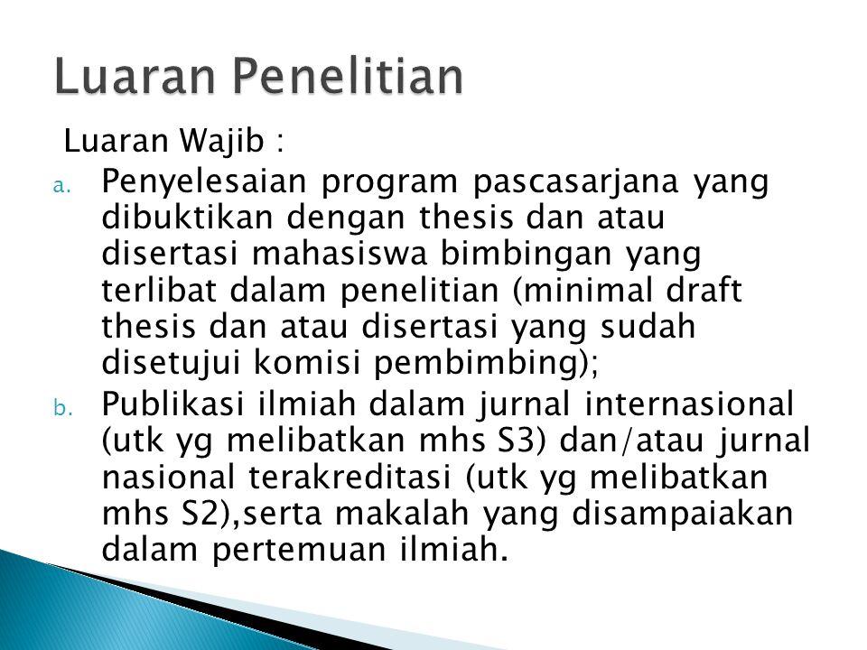Luaran Wajib : a.