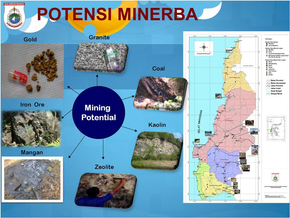 POTENSI MINERBA Mining Potential Gold Coal Mangan Iron Ore Granite Kaolin Zeolite