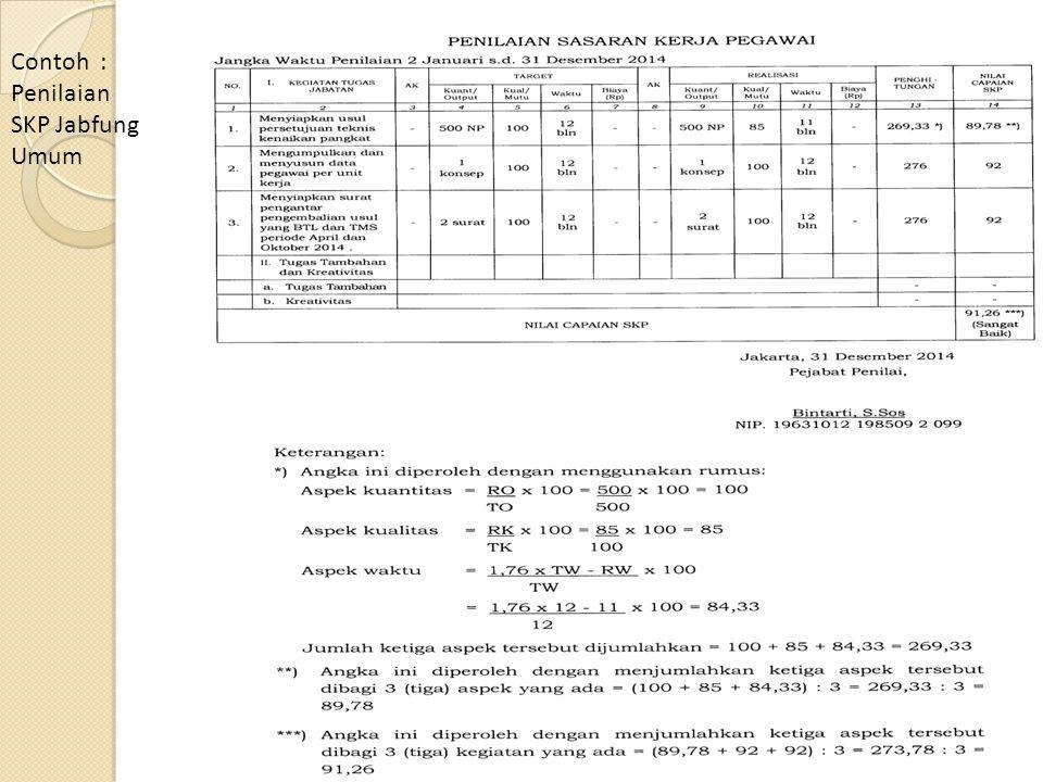 Contoh : Penilaian SKP Jabfung Umum