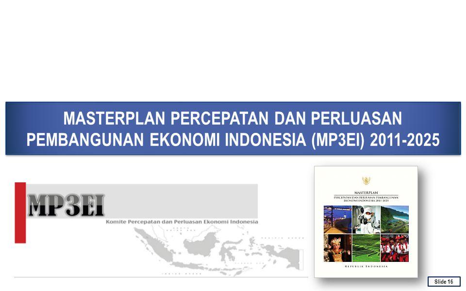 MASTERPLAN PERCEPATAN DAN PERLUASAN PEMBANGUNAN EKONOMI INDONESIA (MP3EI) 2011-2025 16 Slide 16