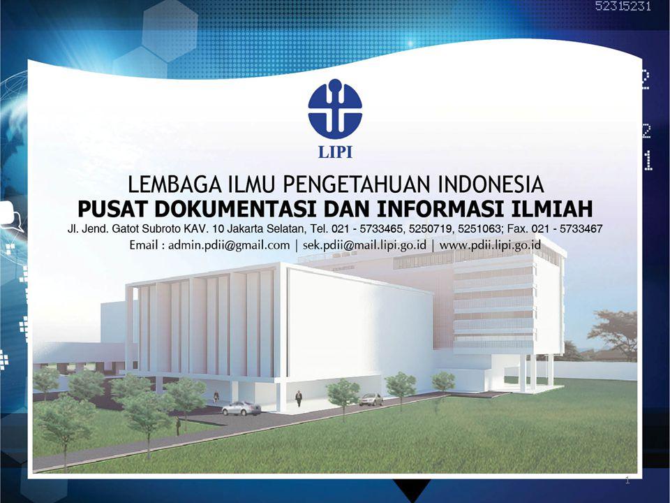 Disampaikan dalam Lokakarya Nasional Dokumentasi dan Informasi, PDII LIPI, Jakarta 23 Oktober 2014 PUSAT DATA DAN INFORMASI IPTEK NASIONAL: SEBUAH GRAND DESIGN 2