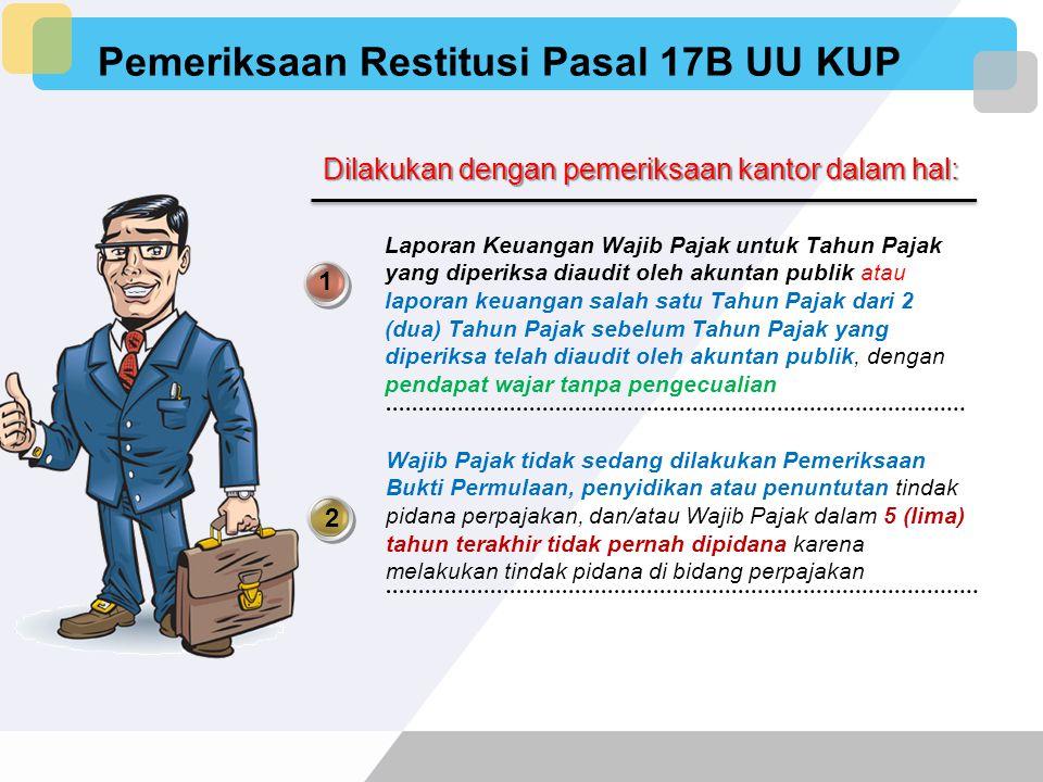 Jenis Pemeriksaan Pemeriksaan Restitusi Pasal 17B UU KUP Pemeriksaan Selain Pasal 17B UU KUP Pemeriksaan Lapangan Pemeriksaan Kantor Pemeriksaan Lapan