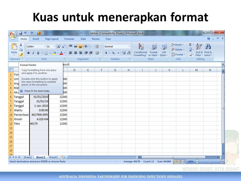 AUSTRALIA INDONESIA PARTNERSHIP FOR EMERGING INFECTIOUS DISEASES Mengatur teks standar klik File  Options