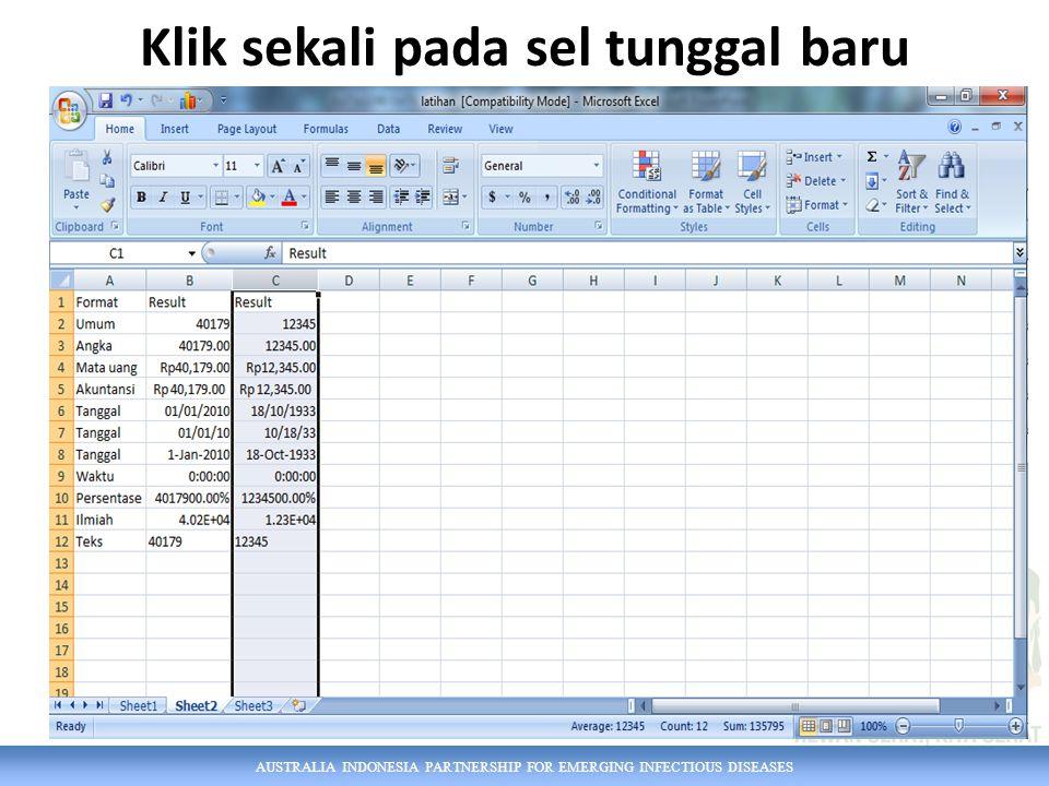 AUSTRALIA INDONESIA PARTNERSHIP FOR EMERGING INFECTIOUS DISEASES User Name dapat diubah: Tapi isi komen tidak berubah