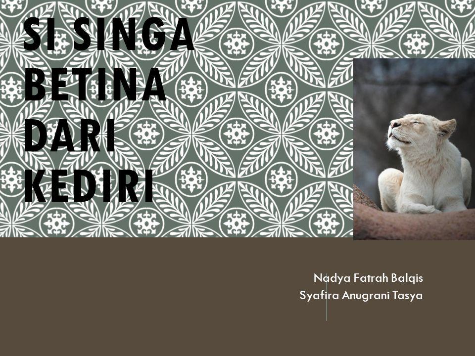 SI SINGA BETINA DARI KEDIRI Nadya Fatrah Balqis Syafira Anugrani Tasya
