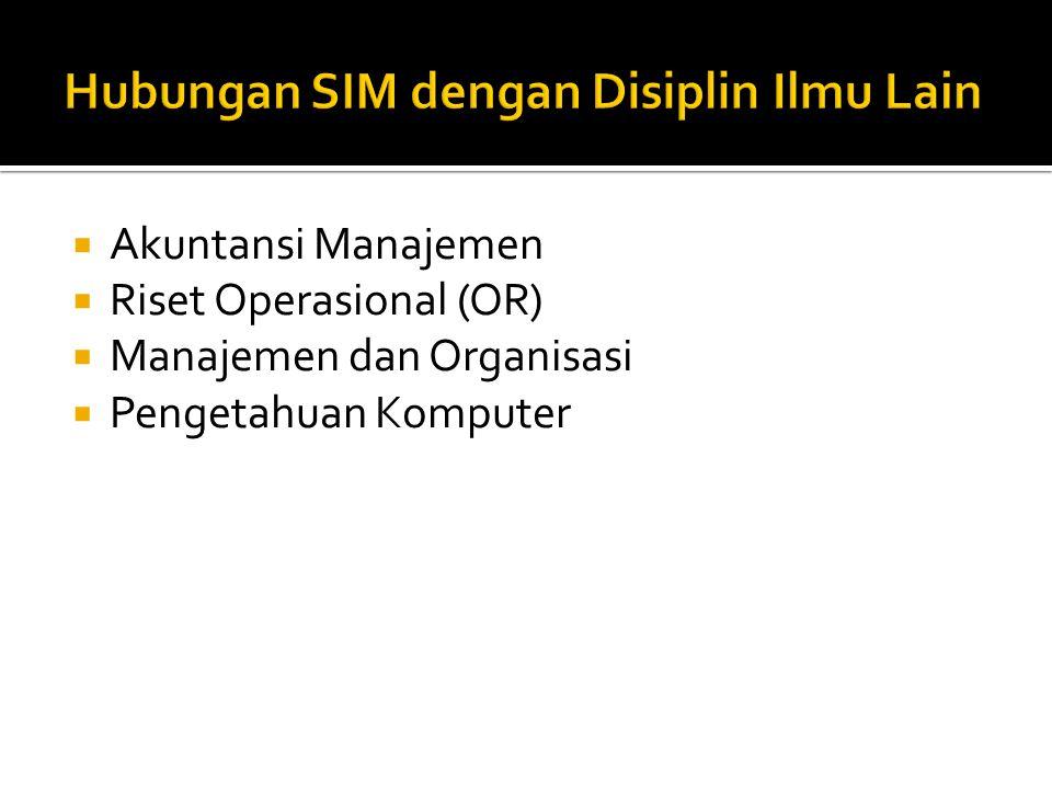  Akuntansi Manajemen  Riset Operasional (OR)  Manajemen dan Organisasi  Pengetahuan Komputer