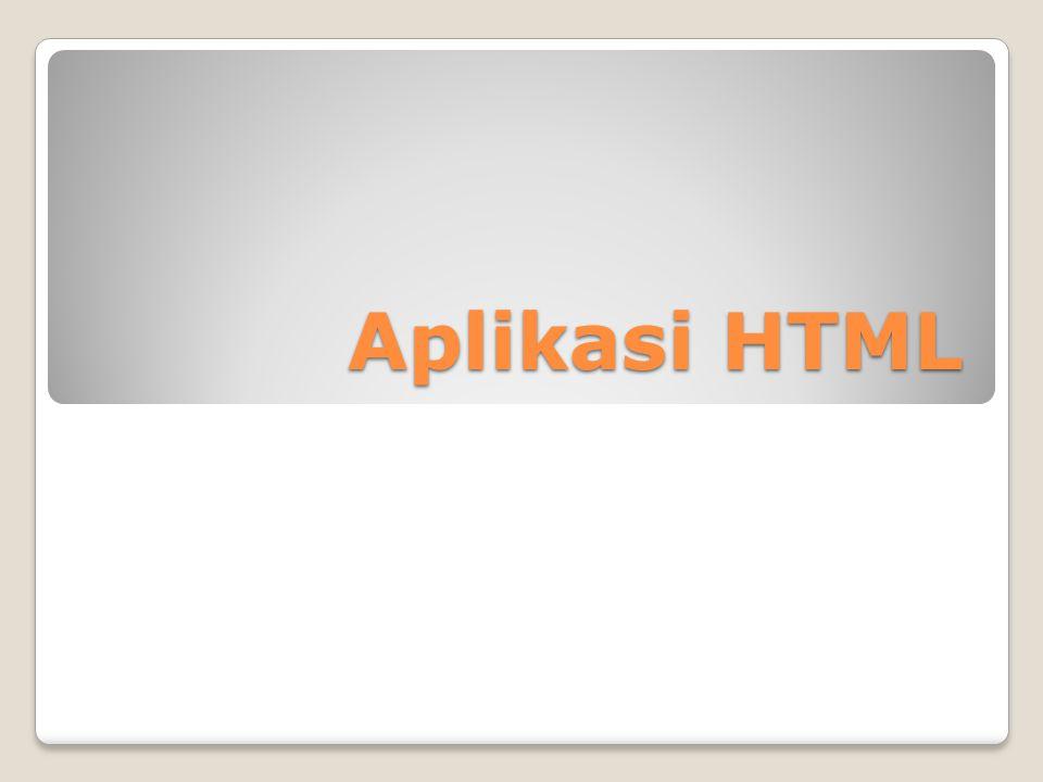 2.1 Definisi HTML HTML (Hyper Text Markup Languange) adalah bahasa pengkodeaan untuk menghasilkan dokumen-dokumen hypertext untuk digunakan di World Wide Web