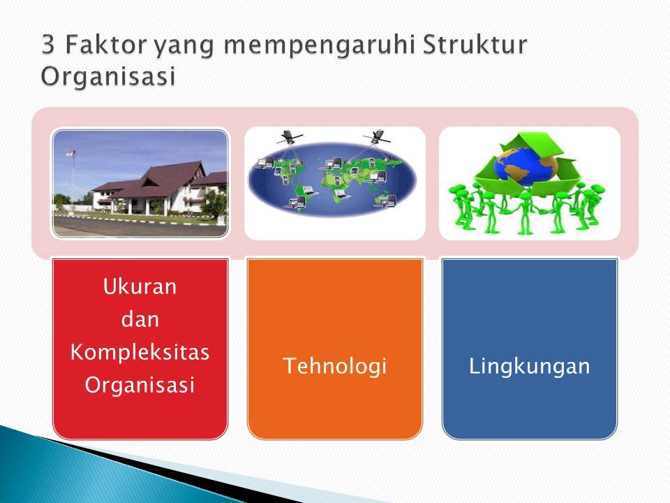 Ukuran dan Kompleksitas Organisasi TehnologiLingkungan