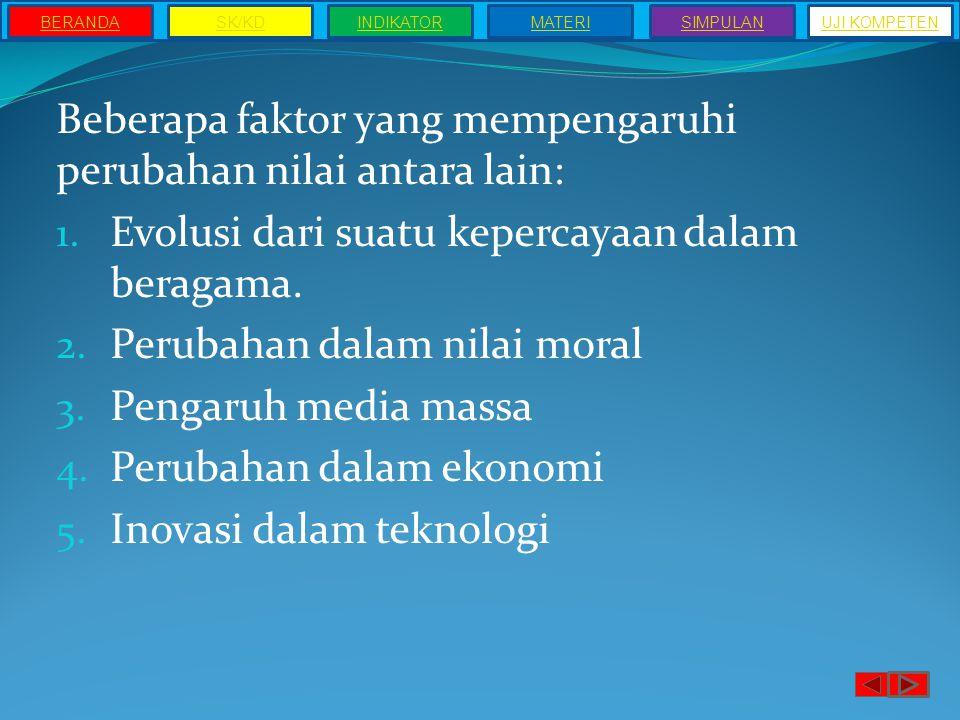 Ciri-ciri Nilai Sosial 1.